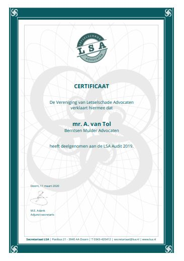 klik voor grote weergave certificaat LSA audit